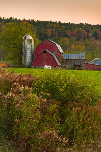 Late Evening Light On The Barn-Addison Upstate New York, NY