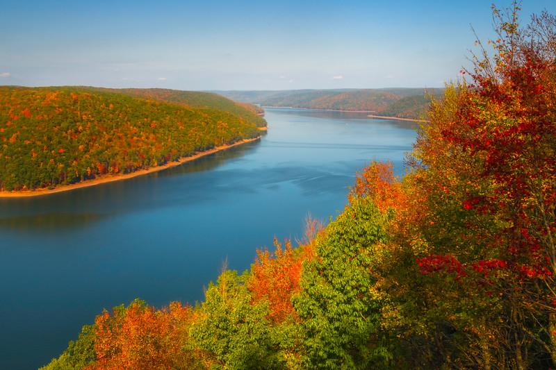 Allegheny Reservoir From Lookout Rock Lookout Rock Over Allegheny Reservoir, Allegheny Mountains, Pennsylvania