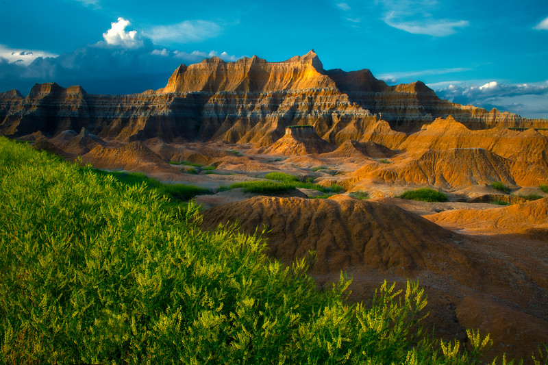 Dappled Light On The Throne - Badlands National Park, South Dakota