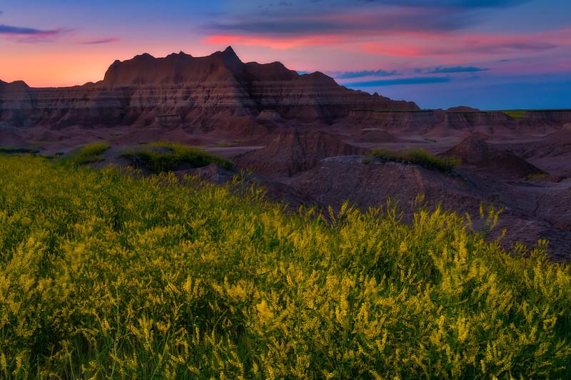 The Moment Of Tranquilty After Sunset - Badlands National Park, South Dakota