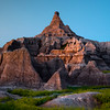 Early Morning Light On The Crown - Badlands National Park, South Dakota