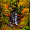 Surrounded By Autumn Colors Of Delight - Soca Falls, Qualla, North Carolina