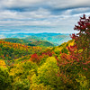 Rolling Mounds Of Color From The BlueRidge Parkway - Blue Ridge Parkway, North Carolina