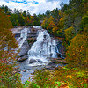High Falls Framed In Autumn Colors - Little River, Pisgah Forest, North Carolina