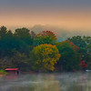 Lake Side Morning FogS unrise On Lake Junaluska Lake Junaluska, North Carolina