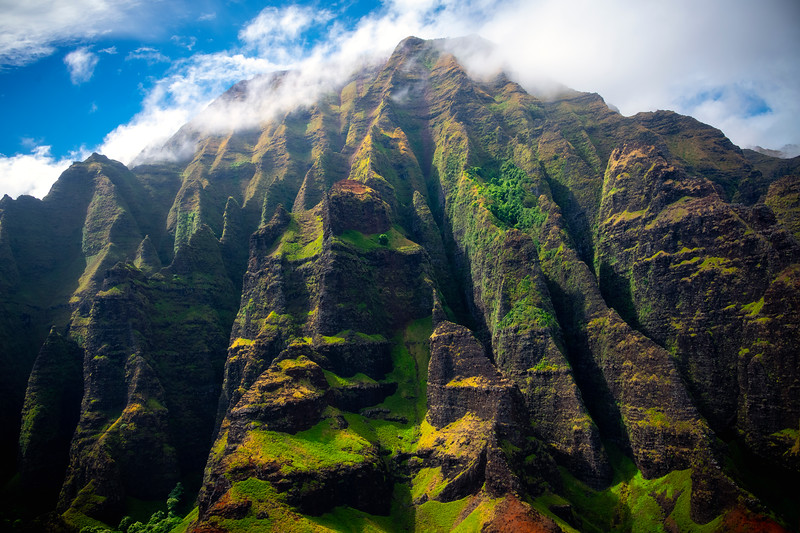 All Spires Converging At Top - Na Pali Coastline, Kauai, Hawaii