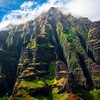 All Spires Converging At Top - Na Pali Coastline, Kauai, Hawaii