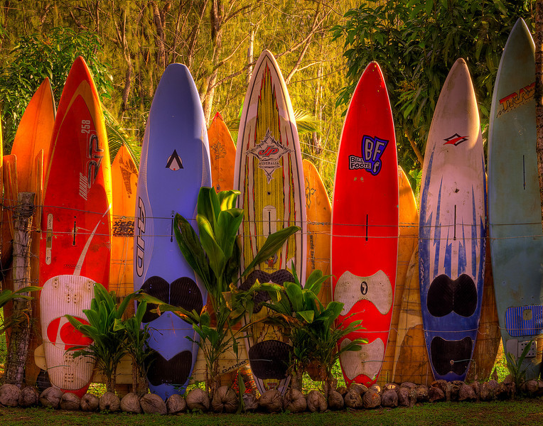 Surfboard Heaven - Surfboard Fence, Hana Highway, Maui, Hawaii