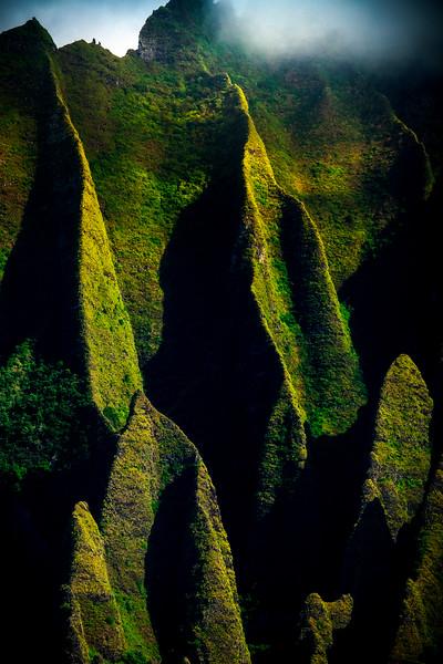 Shadow Love Deep Within - Na Pali Coastline, Kauai, Hawaii