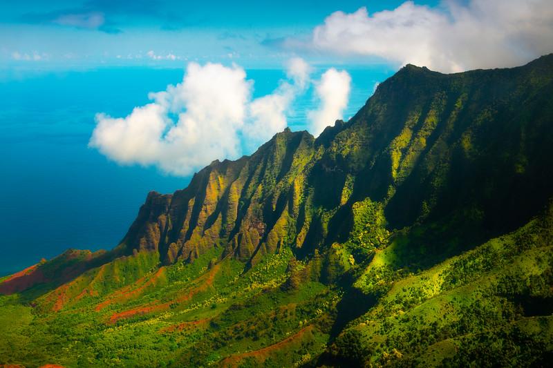 Follow The Light To The Ocean - Kalalau Valley, Waimea Canyon, Kauai, Hawaii