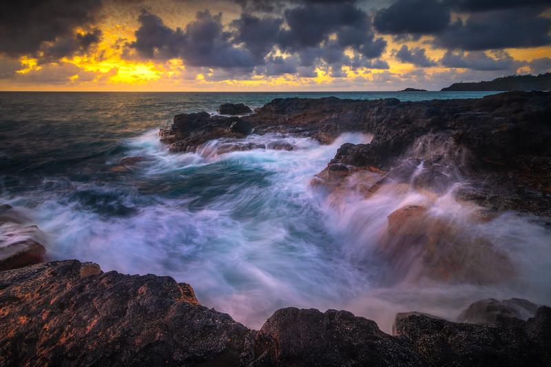 Fallin Waterfalls Along The North Shore Of Kauai - North Shore, Kauai, Hawaiian Islands