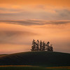 Layers Of Sunrise Fof Over The Palouse Hills Moscow Eid Barn, Moscow, Idaho