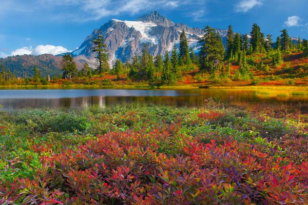 Picture Lake, Mount Shuksan, North Cascades National Park, Washington