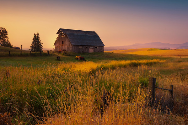 First Light On The Barn