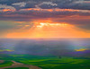 Opening The Skies Above The Palouse - Steptoe Butte,The Palouse, Washington