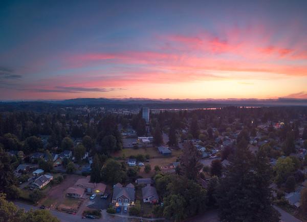 Sunset Over Eastside Olympia - Olympia, Washington