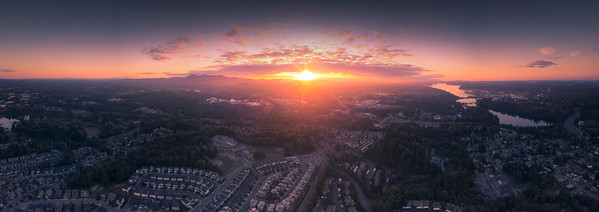 Pano Of Olympia From Tumwater Hill Park - Olympia, Washington