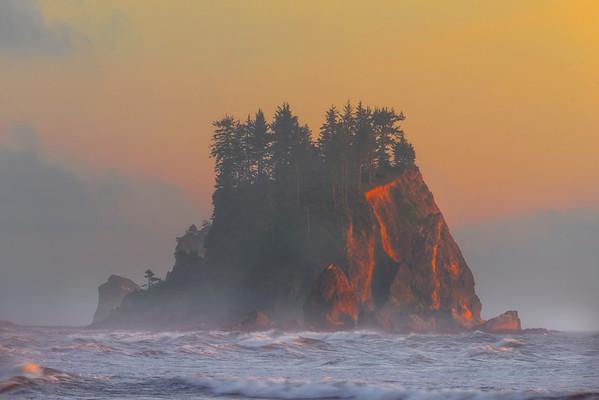 Haystack In Distance - Olympic Peninsula, Washington