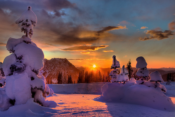 Last Bit Of Light - Paradise Area, Mount Rainier National Park, Washington