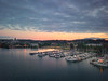 Sunset Dusk Reflecting On Olympia Marina - Olympia, Washington
