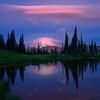 Lenticular Pink Clouds At Tipsoo Lake - Tipsoo Lake, Mt Rainier NP, WA
