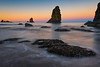 Leaping Rocks Into Twilight - Shi Shi Beach, Point Of Arches, Olympic National Park, Washington