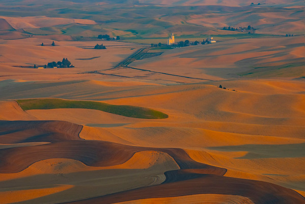 Golden Light On The Grain Mill - Steptoe Butte State Park, Palouse, Eastern Washington