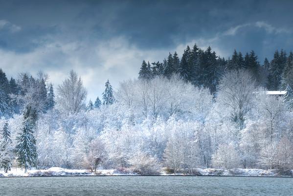 Across The Snowy Pond
