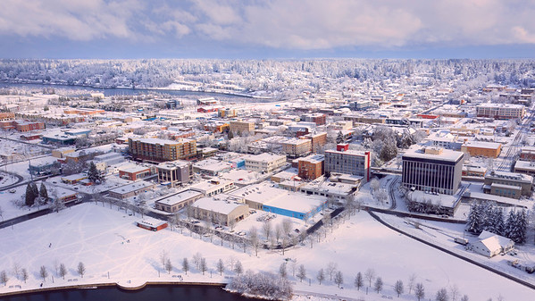 Olympia Downtown In Snow