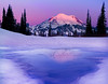 Twilight Melting - Tipsoo Lake, Mount Rainier National Park, Washington