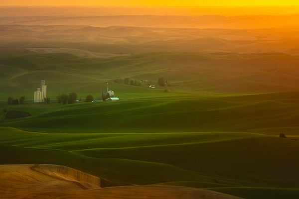 Glowing Sunset Over The Hills Of Steptoe - Steptoe Butte State Park, Palouse, WA