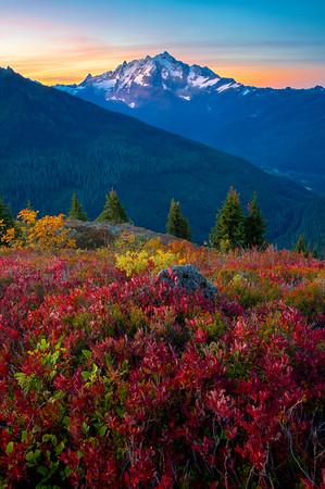 Mt Baker Sunrise In Autumn - North Cascades National Park, WA