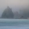 Foggy Evening On Rialto Beach - Rialto Beach, Olympic National Park, WA