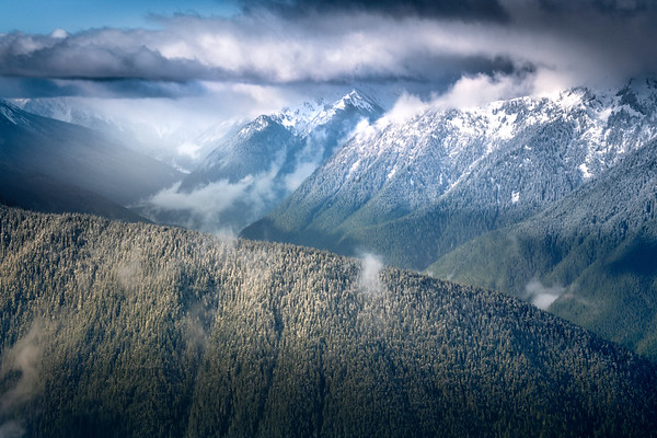 Stormy Clouds And Sun Above The Olympics - Hurricane Ridge, Olympic National Park, WA