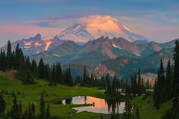 From High Above Tipsoo Lake - Upper Tipsoo Lake, Mount Rainier National Park, Washington St.