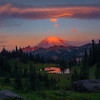 Sunrise Pink Clouds From Upper Area Of Tipsoo Lake - Tipsoo Lake, Mt Rainier NP, WA