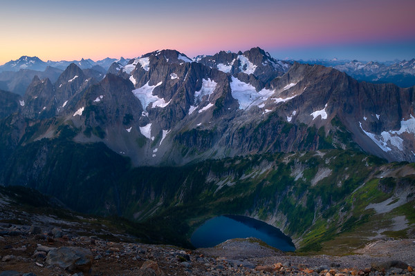 Morning Sunrise From The Top Of Sahale Arm