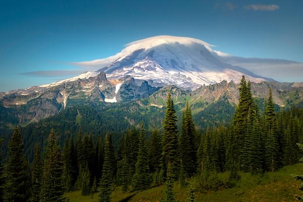 Mt Rainier In Full With Its Hat On - Naches Peak Trail, Mt Rainier NP, WA