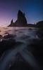 Mystery Moon Glows Over Split Rock And Rialto- Rialto Beach, Olympic National Park, WA