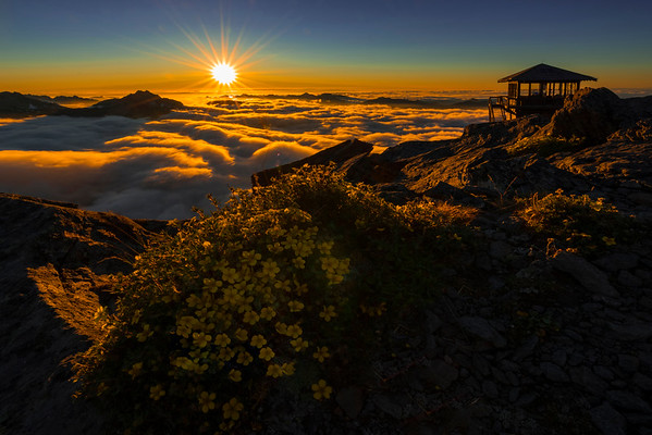 A Glimmer Of Spotlight - Mt Fremont Fire Lookout, Mount Rainer National Park, WA