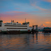 Vashon Ferry From Point Defiance Park With Mt Rainier - Tacoma, Washington