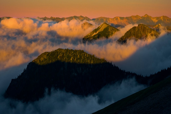 Top Of Cascades Poking Out - Mt Fremont Fire Lookout, Mount Rainer National Park, WA
