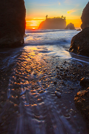 A Channel Of Ripples - Ruby Beach, Olympic National Park, Washington St.