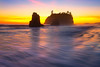 The Ebb Of High Tide - - Ruby Beach, Olympic National Park, Washington St.