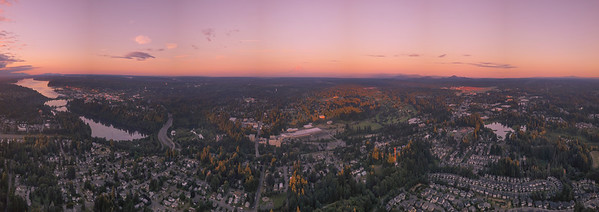 Pano Of Capital Lake And Olympia From Tumwater Hill Park - Olympia, Washington