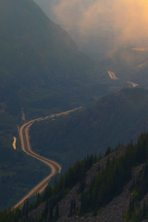 A Look At The Snoqualmie Pass Highway From Above - Bandera Mountain Trail, Alpine Lakes Wilderness, WA