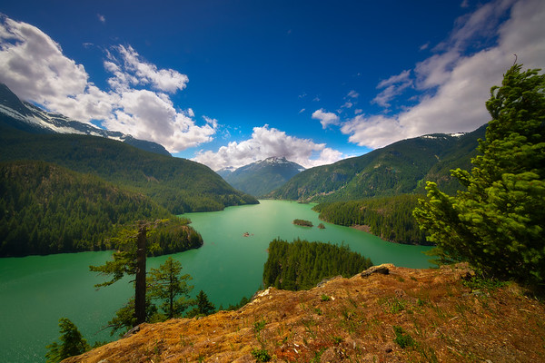 Diablo Lake Afternoon Light - Diablo Lake Viewpoint, North Cascades National Park, WA