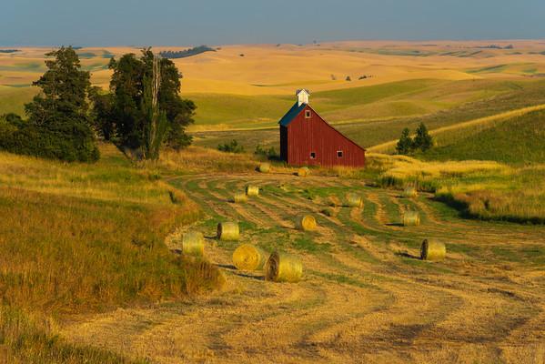 The Moscow Barn In Harvest Season