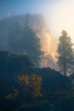 A Hint Of Light Hitting The Canyon Walls - Leavenworth, Central Washington, WA