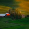 Piece Of Farmland In Late Light - Steptoe Butte State Park, Palouse, WA